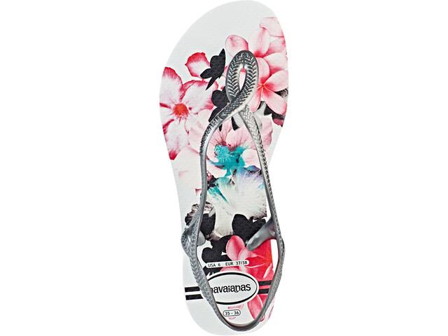 8fc1b4e03b2268 havaianas Luna Print Sandals Women grey white at Addnature.co.uk